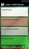 Screenshot of Výuka italštiny - Slovíčka