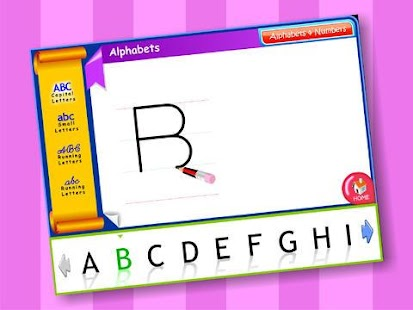 Alphabets & Numbers - screenshot