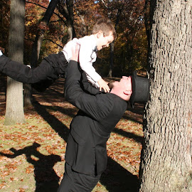 Wedding Day with his son! by Heather Weigand Huckelby - Wedding Groom