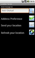 Screenshot of Location Texter