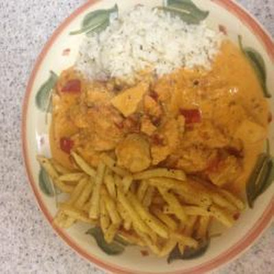Max's Awesome Creamy Chilli Chicken Dish