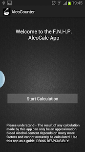 Blutalkoholrechner AlcoCounter - screenshot