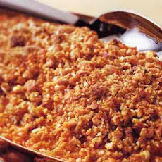 Sweet-Potato and Orange Purée with Almond Streusel
