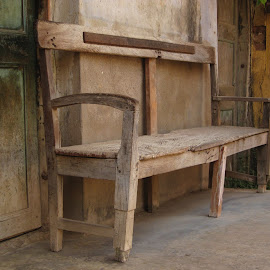 Forgotten by Koustoov Banerjee - Artistic Objects Furniture ( old, bench, seat, furniture, forgotten )