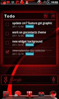 Screenshot of GOWidget BloodRed ICS - Free