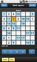 Screenshot of Math Square