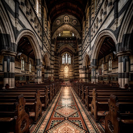 Alone in St. Paul's Cathedral by John Williams - Buildings & Architecture Places of Worship ( gothic, church, melbourne, australia, sanctuary, interior architecture, worship )