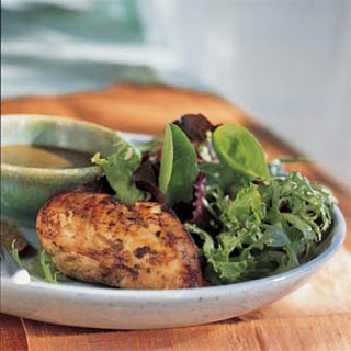 Balsamic Vinaigrette Chicken Over Gourmet Greens