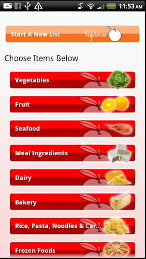 【免費購物App】Vegetarian Shopping List-APP點子
