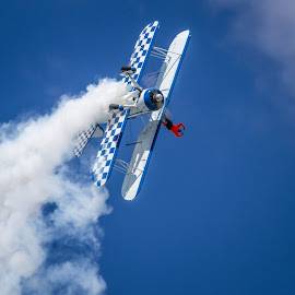 Wing Walker by Ron Meyers - Transportation Airplanes