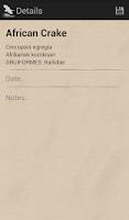 Screenshot of Bird Checklist Europe