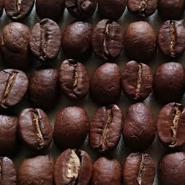 coffee rows by Howard Guldi - Food & Drink Alcohol & Drinks ( bean, coffee beans, coffee, dark, brown,  )