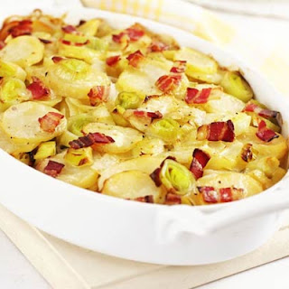 Leek, Potato & Bacon Bake