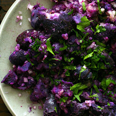 Michael Anthony's Fork-Crushed Purple Majesty Potatoes