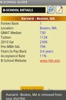 Screenshot of B-School/GMAT® Guide