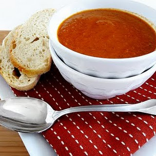 Roasted Tomato Soup with Sweet Onion