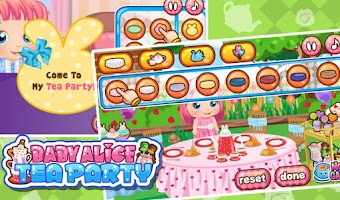 Screenshot of Baby Alice Tea Party