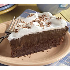Brownie Bottom Pudding Pie