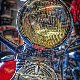 Early Harley Headlight by Ron Meyers - Transportation Motorcycles