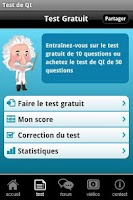 Screenshot of Test de QI gratuit