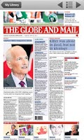 Screenshot of The Globe and Mail's Globe2Go