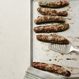 Zucchini Cheese Boats Bread Crumbs Recipes