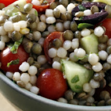 Mediterranean Couscous and Lentil Salad