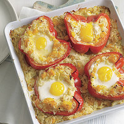 Baked Nestled Eggs