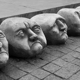 Heads by Jovanka Botić - Artistic Objects Other Objects ( sculpture bw head face )