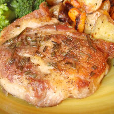 Pan-Seared Pork Chops W/ Rosemary