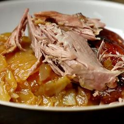 Slow-cooked Lamb Shoulder With Boulangere Potatoes
