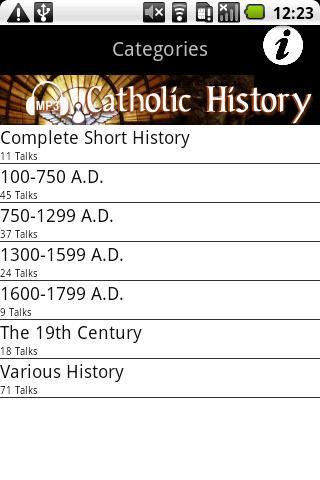 Audio Catholic History