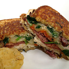 Grilled Deli-Style Sandwich with Spinach Dip Schmear
