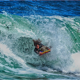 furious by Maricha Knight van Heerden - Sports & Fitness Surfing ( onrus, waves, body boarding, summer, crashing, surf )
