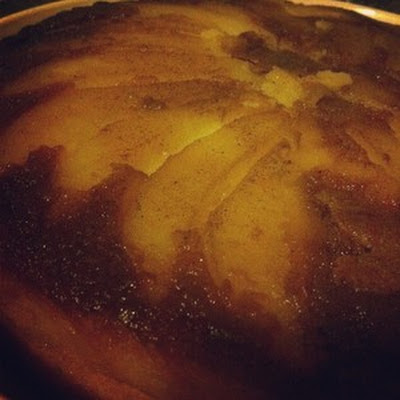 Upside-Down Cardamom-Pear Cake