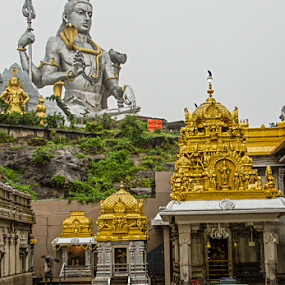 Murdeshwar Temple,Gokarna   by Vyom Saxena - Buildings & Architecture Places of Worship ( temple, gokarna, shiva, inside view, murdeshwar )