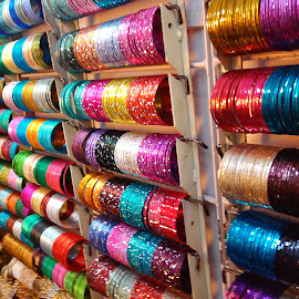 Bangle shop in Bangalore by Bipeesh Bhaskaran - City,  Street & Park  Markets & Shops ( street bangle shop colors )
