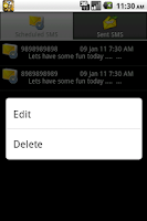 Screenshot of SMS Scheduler Pro