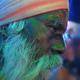 Deep Thought by Arnab Bhattacharyya - People Portraits of Men