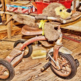Tricycling Bear by Hylas Kessler - Artistic Objects Toys