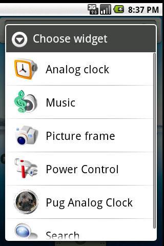Pug Clock Widget
