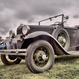 Old by Joe Shortridge - Transportation Automobiles ( car, old, wood, hdr, vintage, automobile, summer, auto, rusty, ford, rust, rustic )