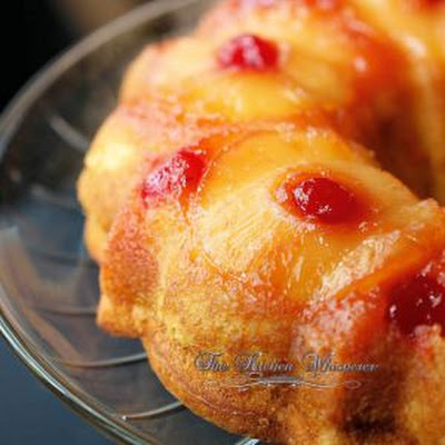 Pineapple Banana Upside Down Bundt Cake
