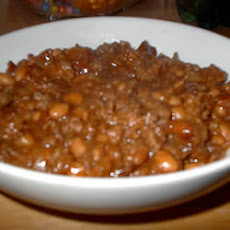 Slow Cooker Bean Casserole AKA Sweet Chili