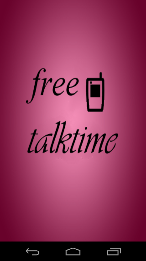 Free Talktime Screenshot 0