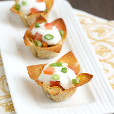 Mini Chicken Taco Cups