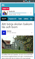 Screenshot of P1 (bokmärkesapp)