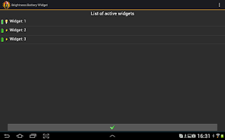 Screenshot of A Battery Widget Shield