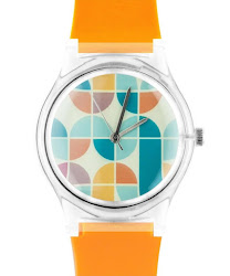 May 28th 02:14PM - Orange 70s Graphic Watch