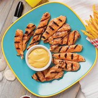 Grilled Chicken Tenders with Creamy Honey Mustard